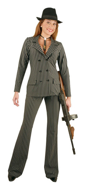 Gangster Halloween Costume for Women pictured.  Gangster Moll...