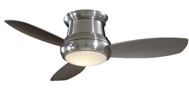 Small ceiling fan with light