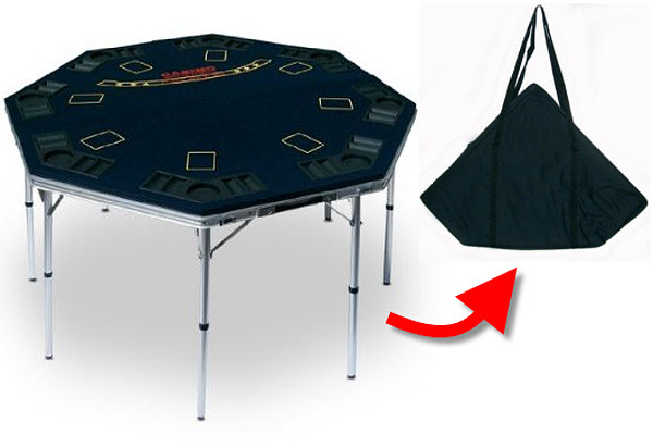Poker table portable