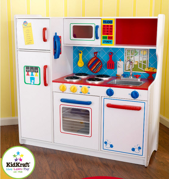 Kids Play Kitchen Wood: Kids Wooden Play Kitchen Sets