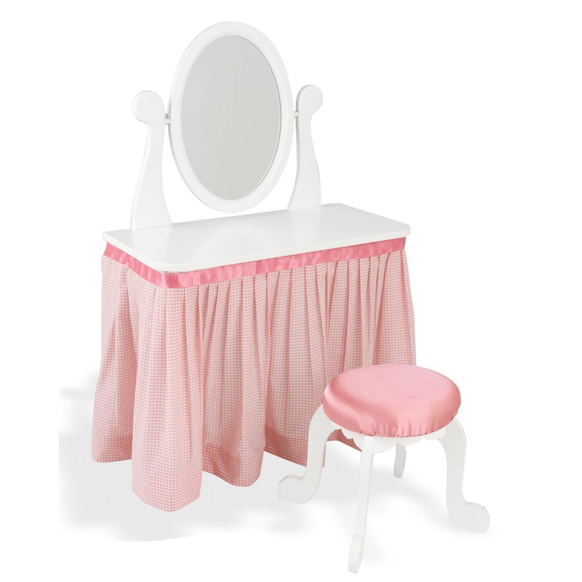Kidkraft Princess Vanity Table And Chair Set Pink Purple