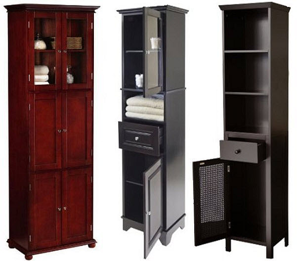 Tall bathroom storage cabinet findabuy - Tall bathroom storage cabinets with doors ...
