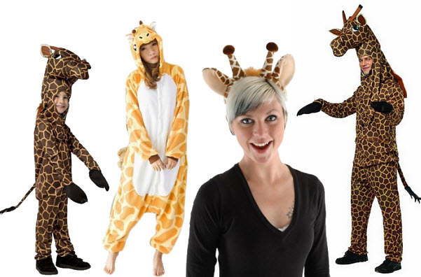 giraffe halloween costumes for kids and adults