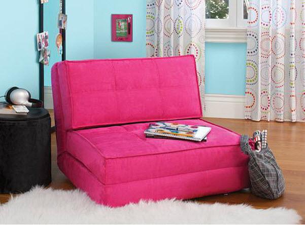 Big Joe Flip Lounger Black Bean Bag Chair Dorm Kids Room