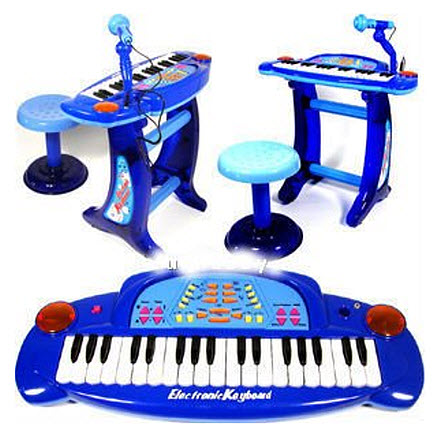 Kids Keyboard With Microphone And Stool Findabuy