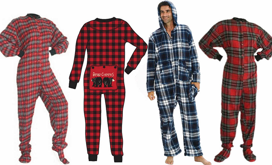 Two piece adult footed pajamas — 8