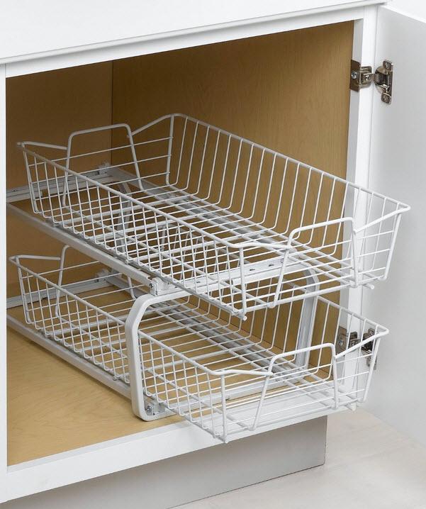 Kitchen Cabinets Basket Drawer: Wire Basket Cabinet Drawers
