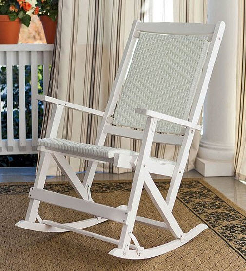 Folding wood rocking chair