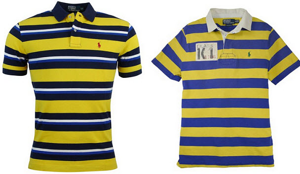 Yellow and blue striped shirt