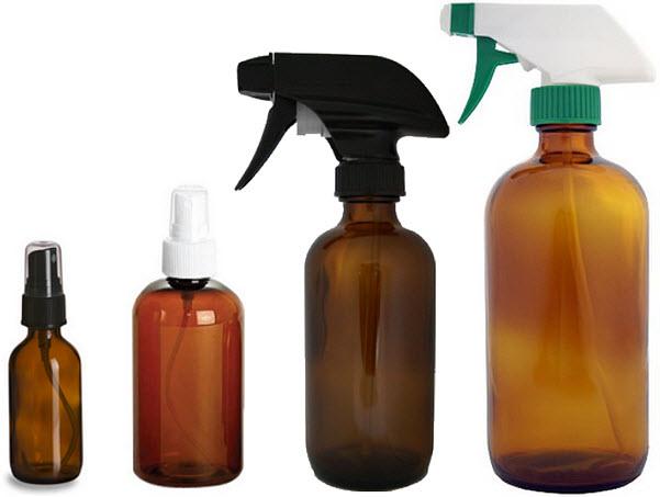 Amber spray bottle