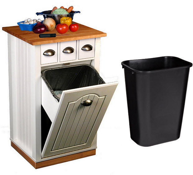 kitchen island with trash can findabuy