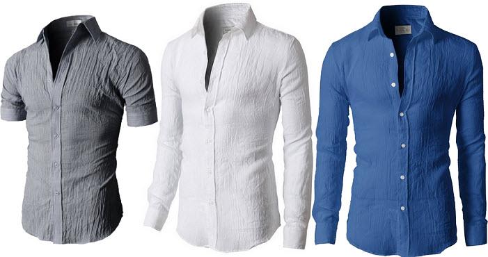 Mens gauze shirt