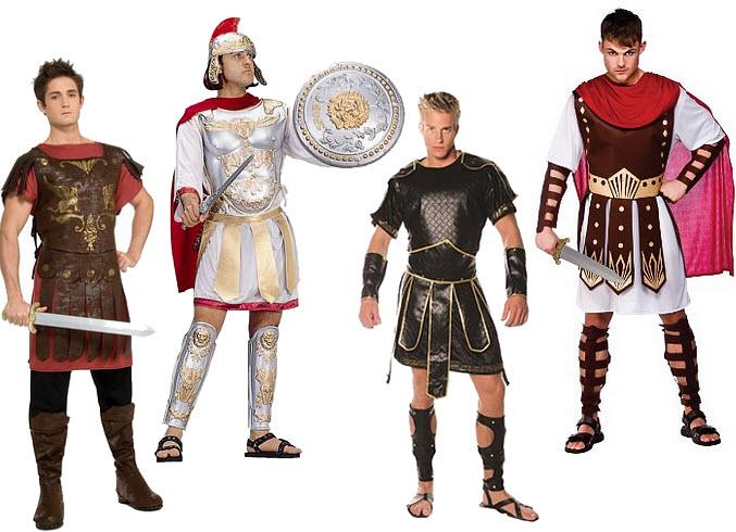 Mens Roman gladiator Halloween costume