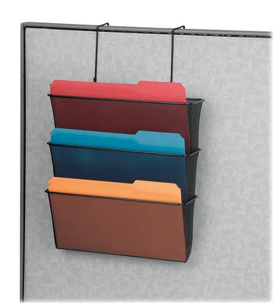 Mesh hanging file holder