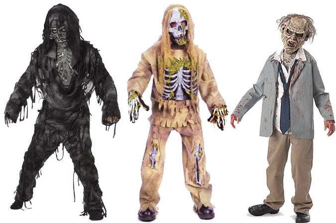 Kids zombie Halloween costume