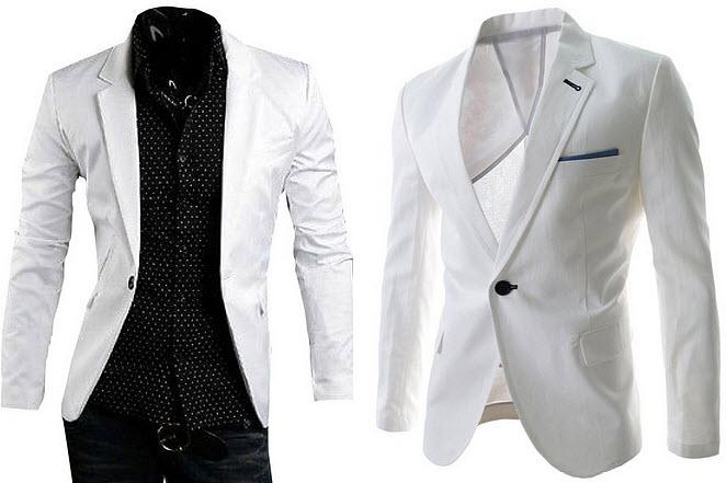 Mens White Blazer Jacket Findabuy