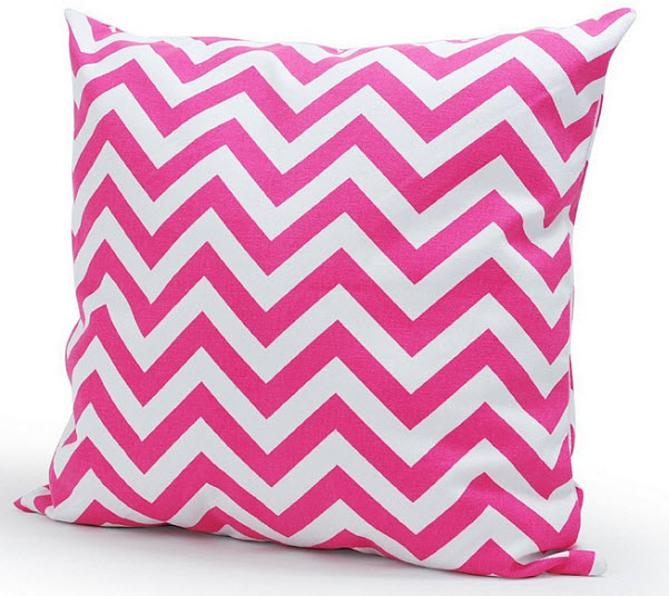 Pink chevron throw pillow cover