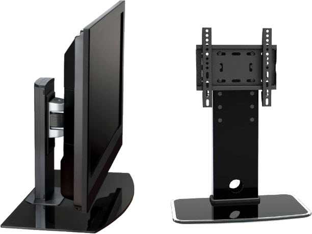 Adjustable table-top TV mount