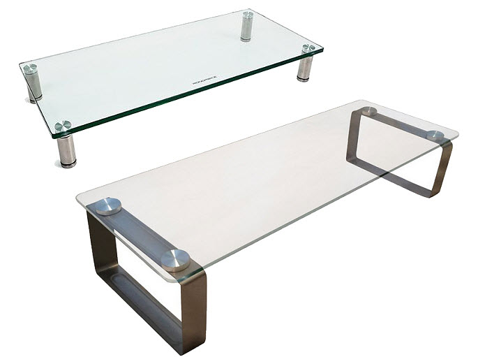 Glass monitor stand