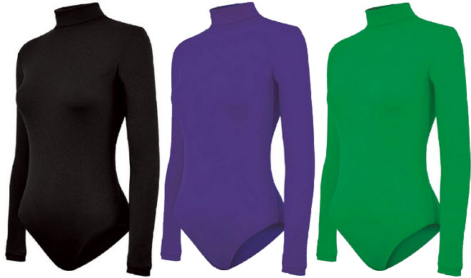 Turtleneck long-sleeve leotard