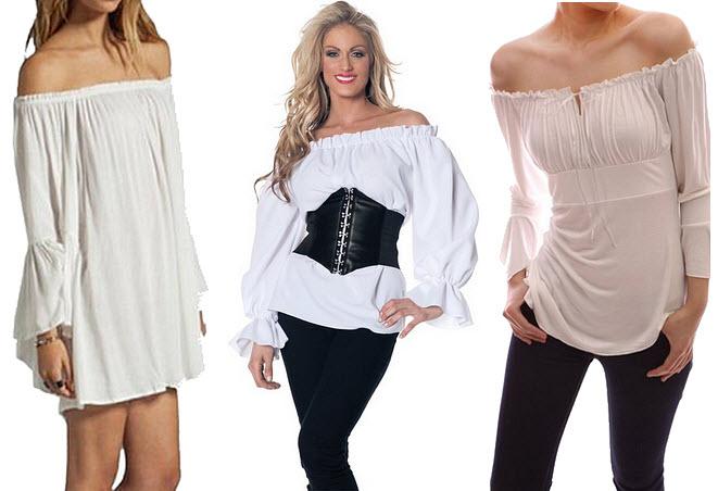 Women S Plus Size Pirate Blouse Collar Blouses